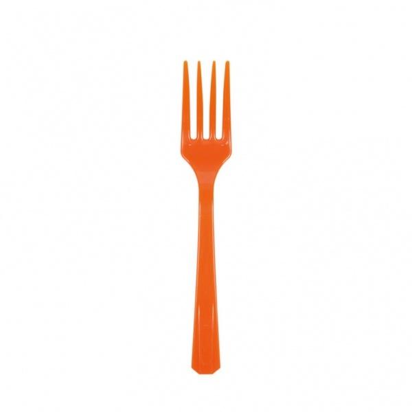Partygabeln Kunststoff 10 Stück orange