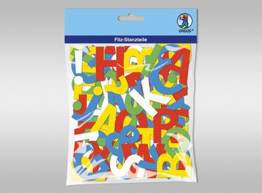 Bastelfilz Buchstaben