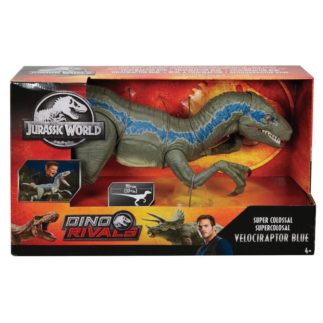 Jurassic World Super Colossal XXL Veliociraptor Blue Dino