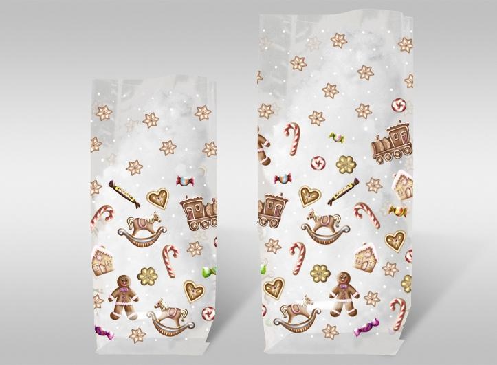 Geschenk-Bodenbeutel süße Weihnachten 11,5 x 19 cm