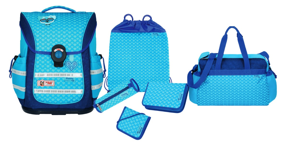 McNeill Pretty Ergo Light Pure Schulranzen-Set 6-tlg.
