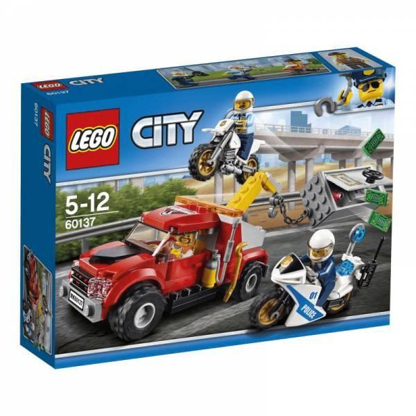 Lego City Polizei 60137 Abschleppwagen auf Abwegen