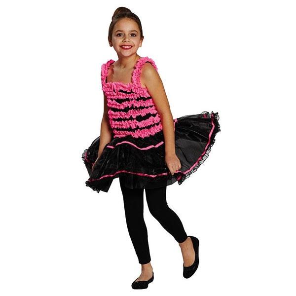 Kostüm Ballerina schwatz pink 128