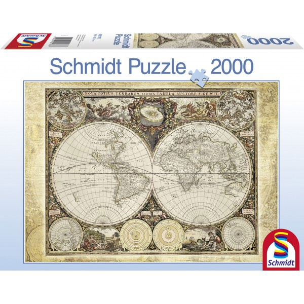 Historische Weltkarte Puzzle 2000 Teile von Schnidt Spiele