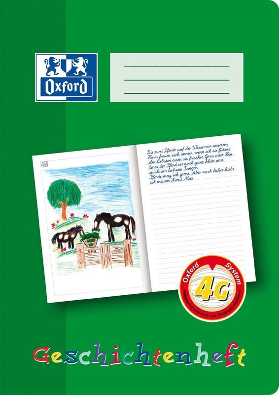 Oxford Schreiblernheft Geschichtenheft A4 Lineatur 4g