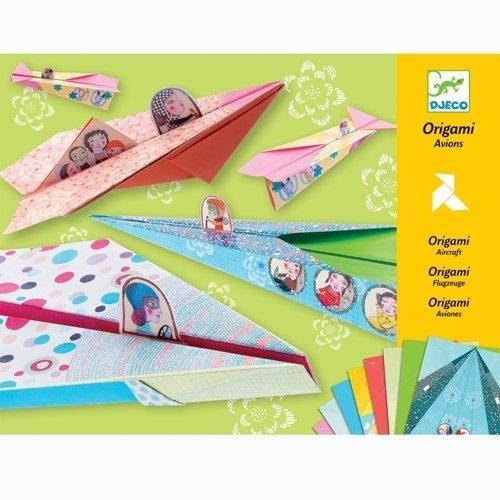 Djeco Bastelset Origami Flugzeuge pastell