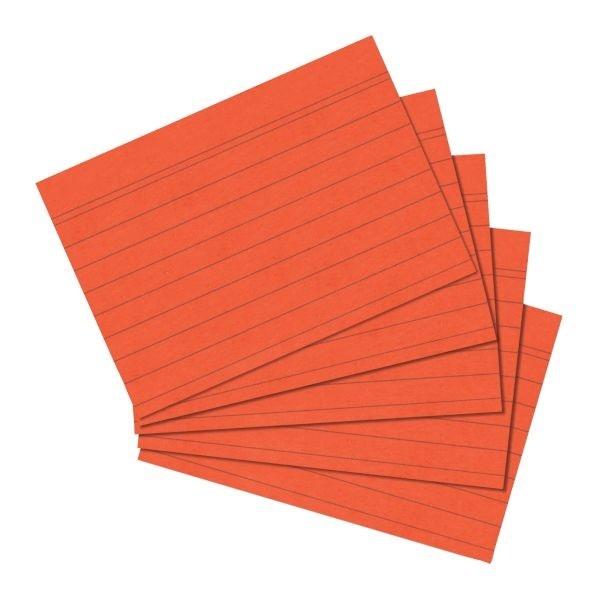 Karteikarten A5 orange liniert