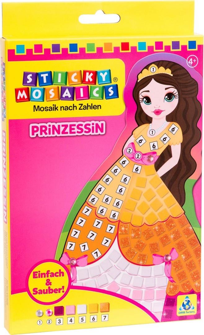 Bastelset Sticky Mosaik nach Zahlen Prinzessin