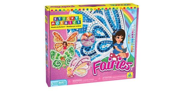 Bastelset Sticky Mosaik nach Zahlen Fairies Feen