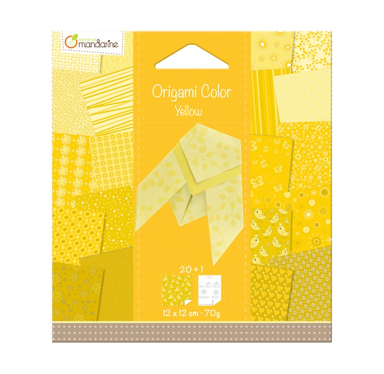 Avenue Mandarine Origami Papier Urban 12 x 12 cm gelb