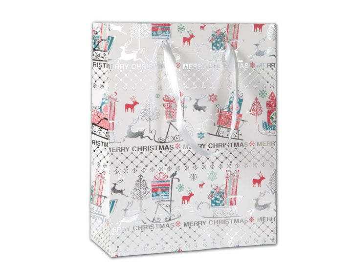Geschenktüte Merry Christmas 18x23 cm