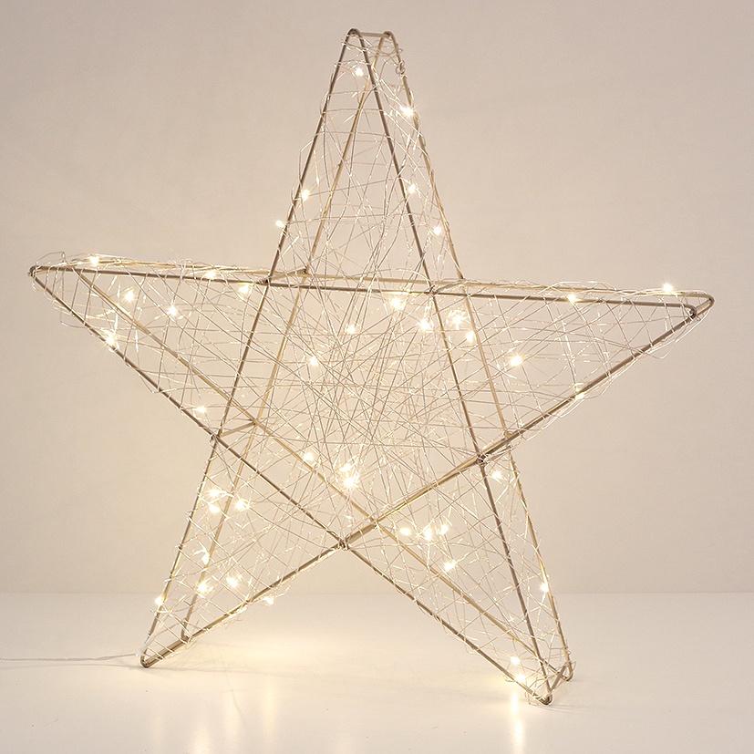 Lichtdekoration Stern gold 30 LED-Lichter 30 cm