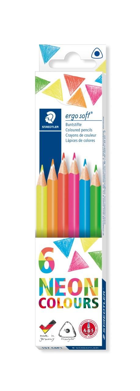 Staedtler Buntstifte ergo soft neon 6 Stück Packung