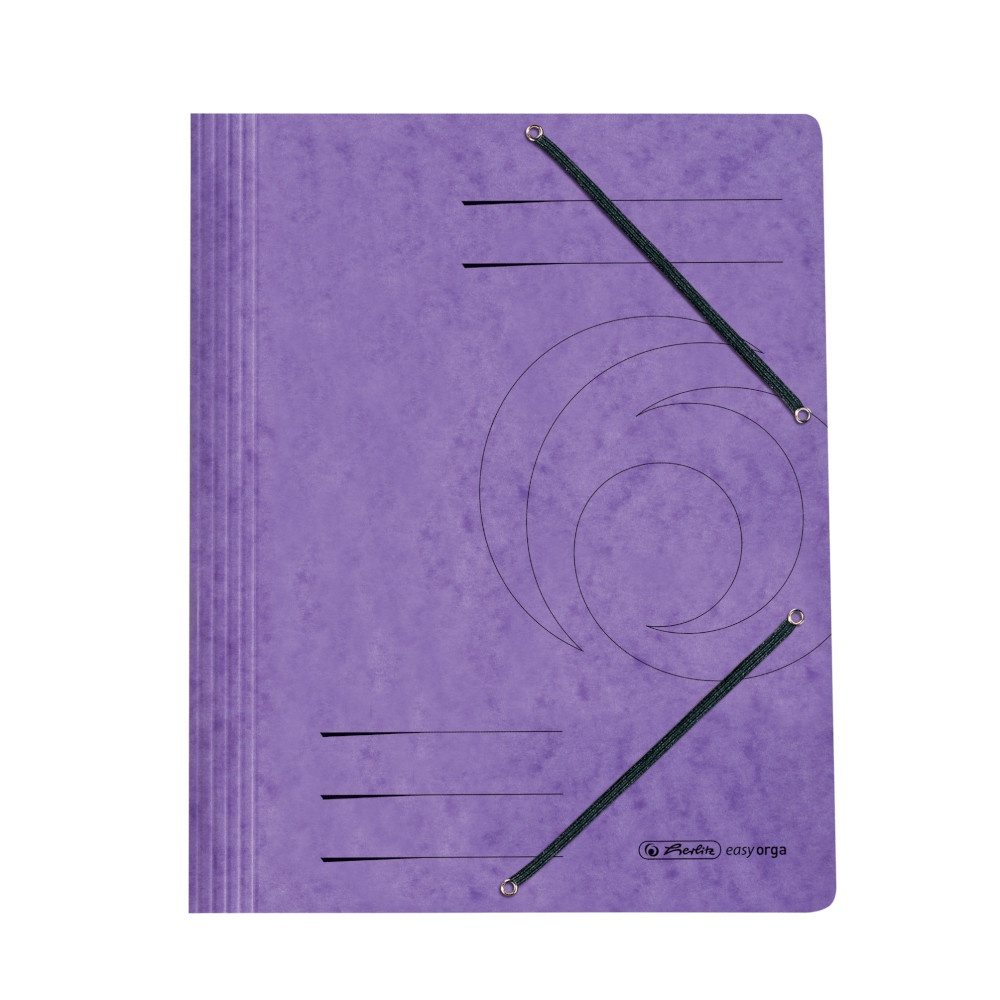 Einschlagmappe mit Gummizug violett