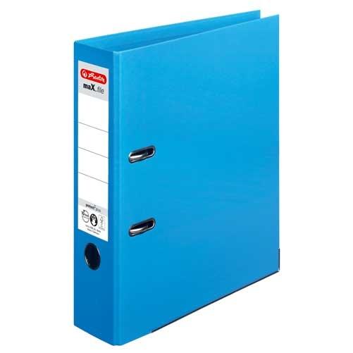 Ordner A4  max.file protect 8 cm hellblau von Herlitz
