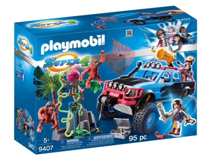 Playmobil 9407 Super4 Monster Truck mit Alex und Rock Brock