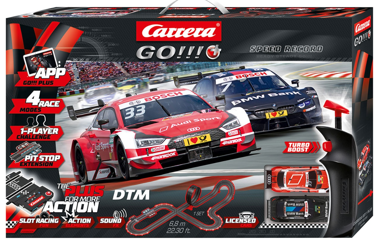 Carrera GO!!! Plus DTM Speed Record Autorennbahn 66009