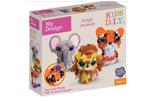 PlushCraft My Design 3D Jungle Pack Tiger Elefant Löwe