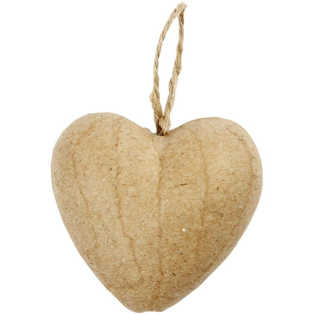 Pappmaché Herz 9 Stück zum Selbstgestalten