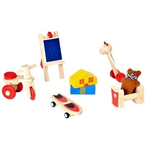 Puppenhaus-Möbel Spielzeug-Set aus Holz von Plantoys
