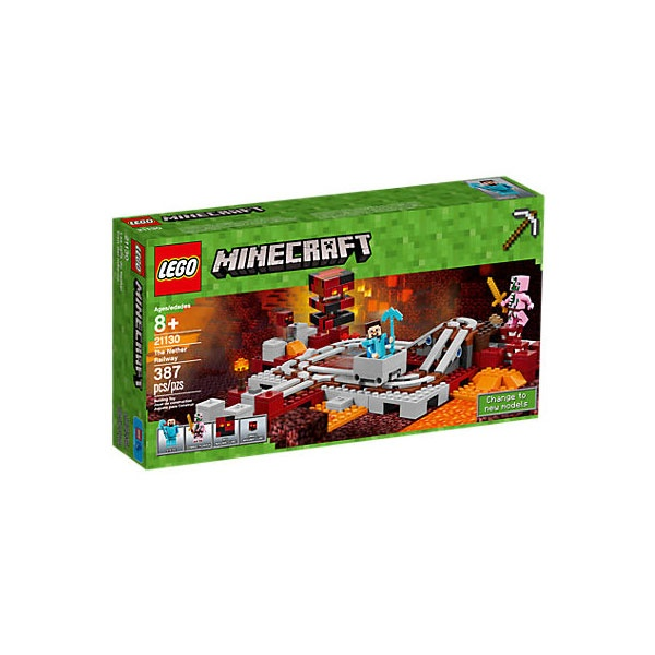 Lego Minecraft 21130 Die Nether-Eisenbahn