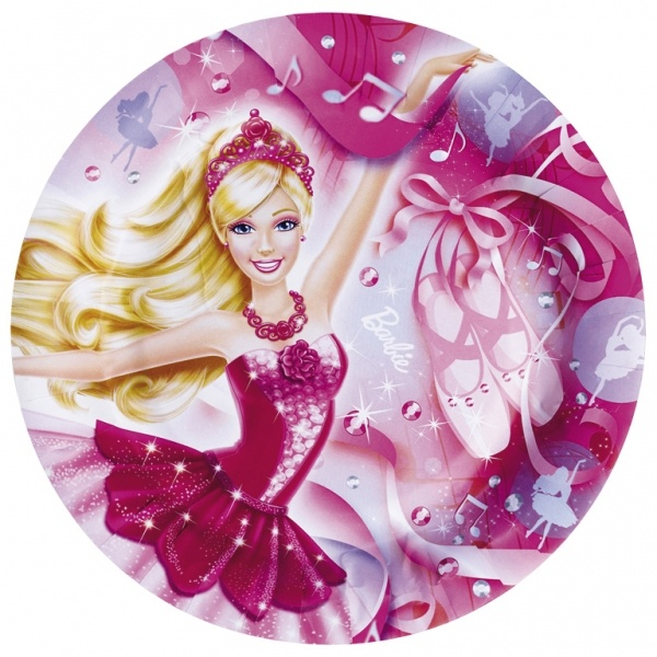Partyteller Barbie Pink Shoes 8 Stück