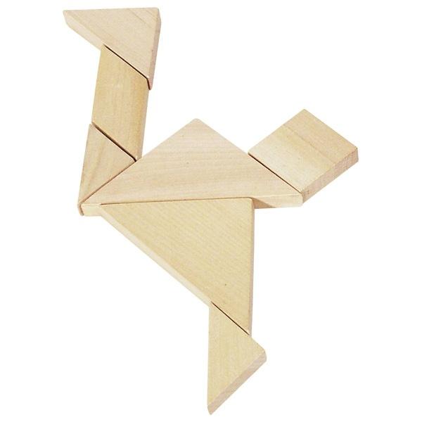 Puzzle Tangram aus Holz