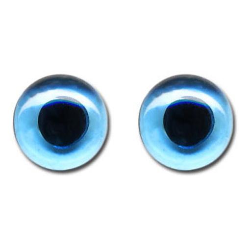 Glasaugen für Tiere 12 mm blau