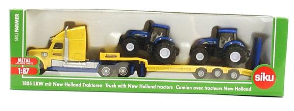 Siku 1805 LKW mit New Hollland Traktoren 1:87
