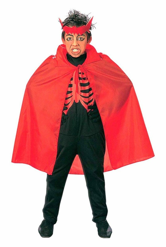 Kostüm Umhang rot 90 cm