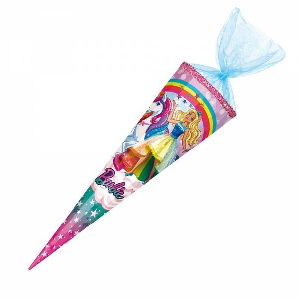Schultüte Barbie Einhorn mit Strassapplikationen 85 cm