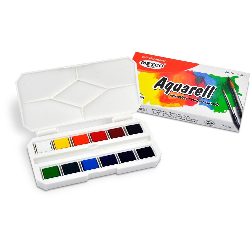 Aquarellfarbkasten mit 12 Farben
