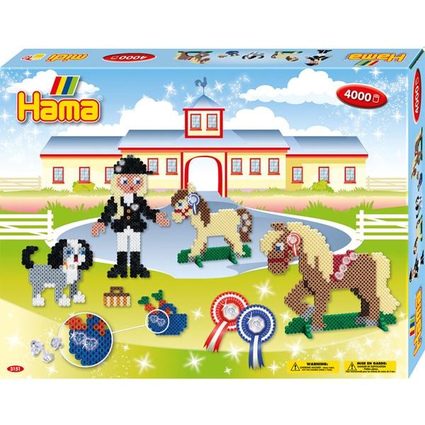 Hama Bügelperlen-Set Pferdehof