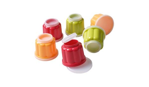 6 Puddingförmchen Kunststoff