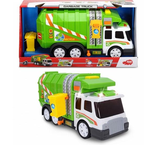 Garbae Truck Müllwagen grün 39 cm