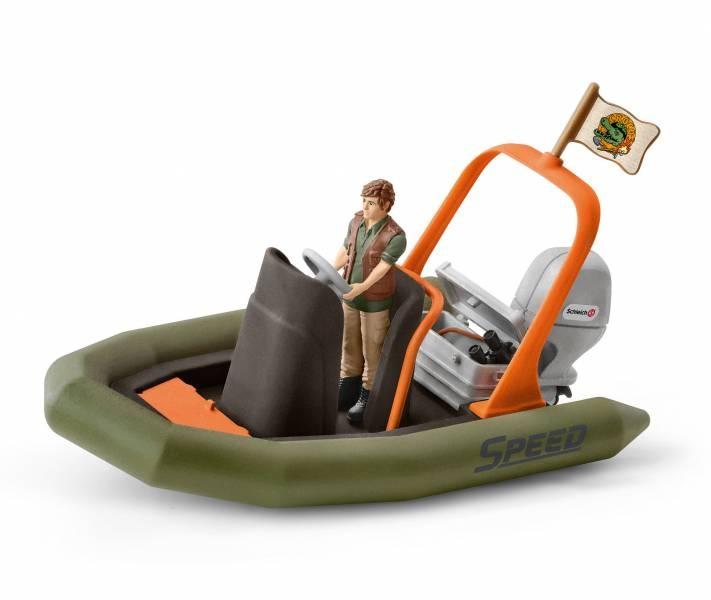 Schleich Wild Life Schlauchboot mit Ranger 42352