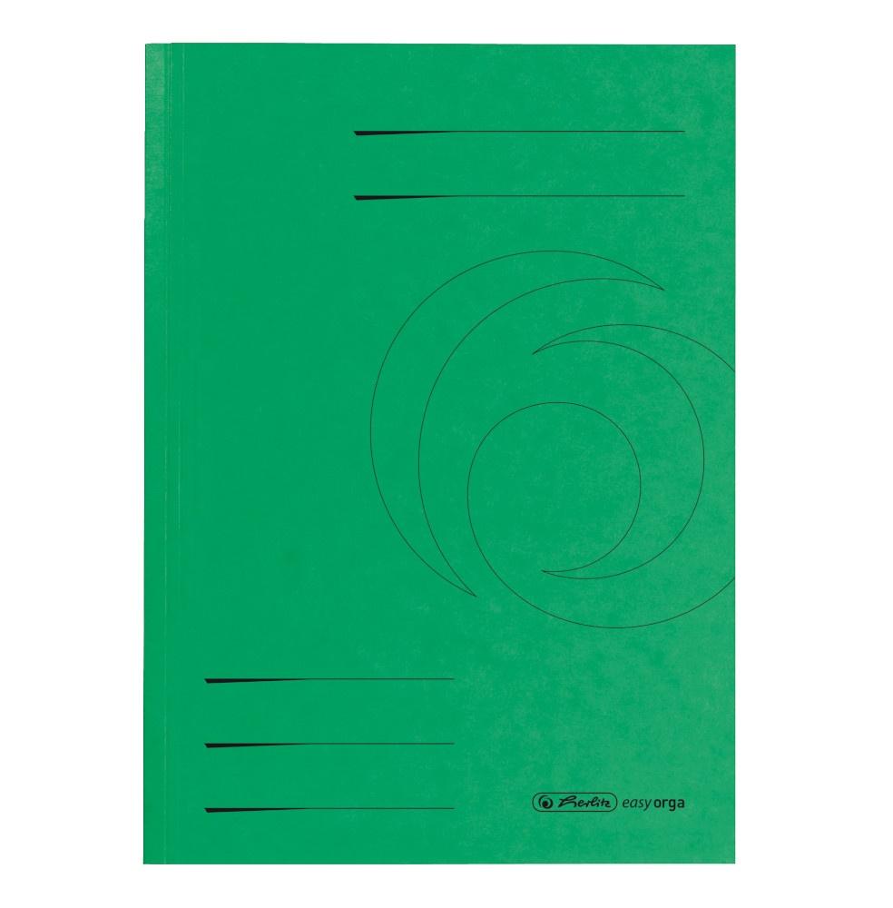 Aktendeckel A4 grün, Karton