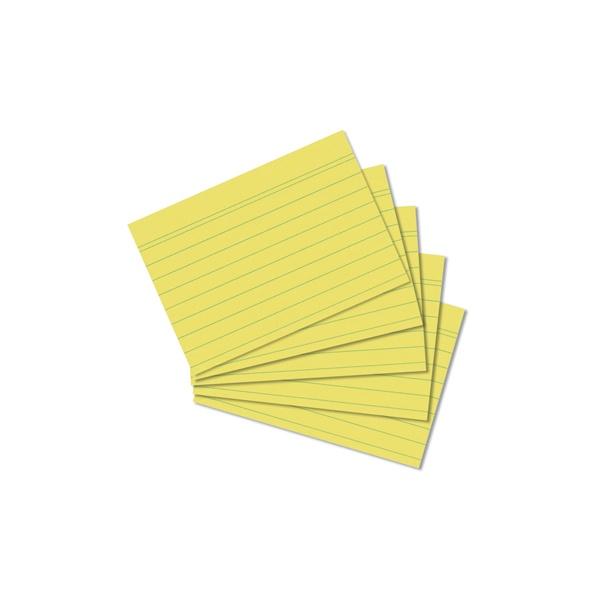 Karteikarten A8 gelb liniert 100 Stück