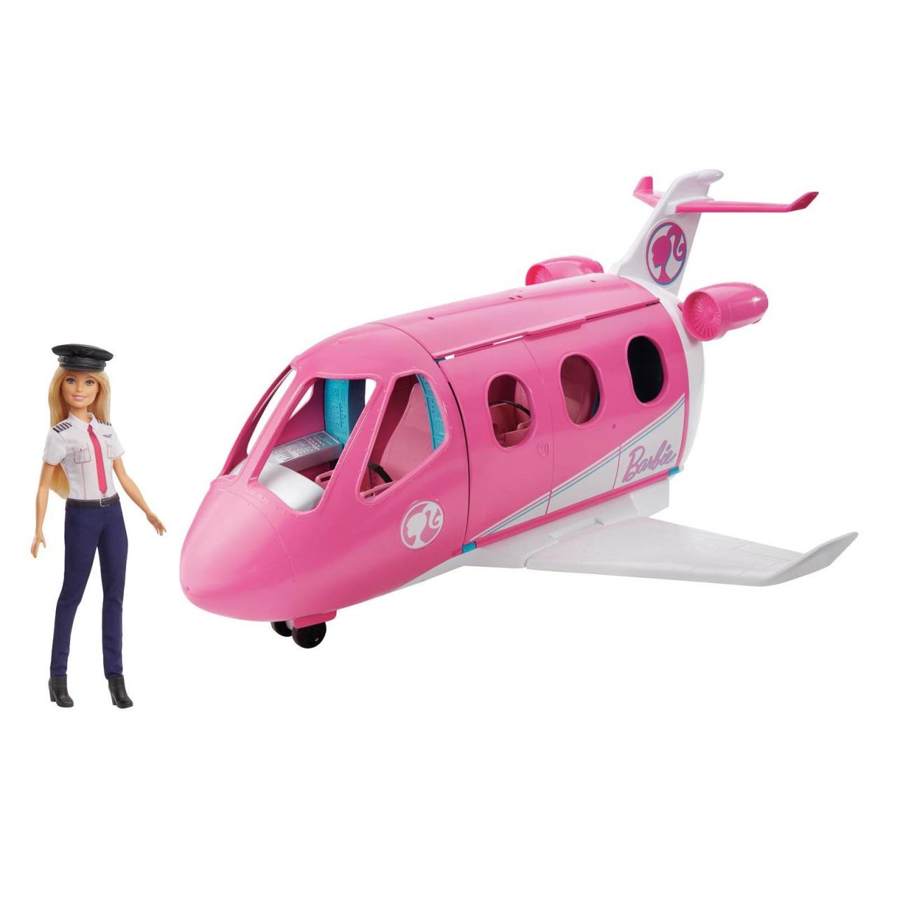 Barbie Reise Traumflugzeug mit Puppe GJB33