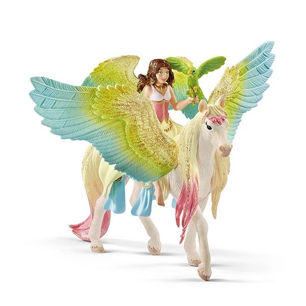 Schleich Bayala Surah mit Glitzer-Pegasus 70566