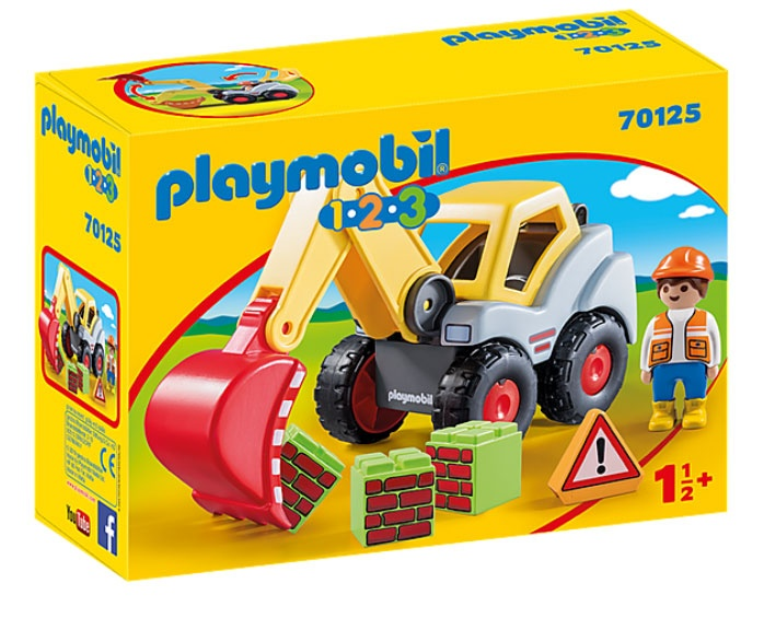 Playmobil 70125 1.2.3 Schaufelbagger