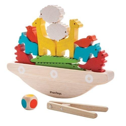 Balancierspiel Boot mit Tieren aus Holz von Plantoys