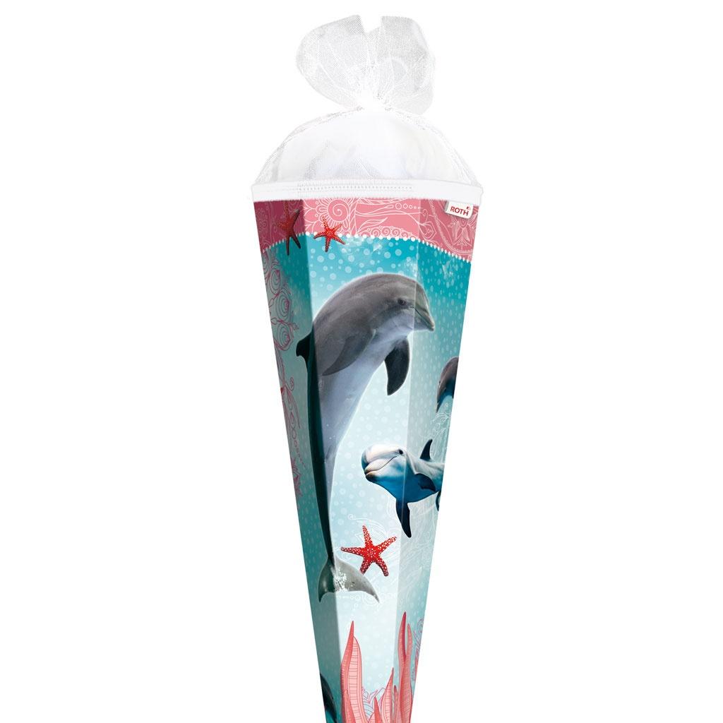 Roth Schultüte Delfin mit Seesternen 85 cm