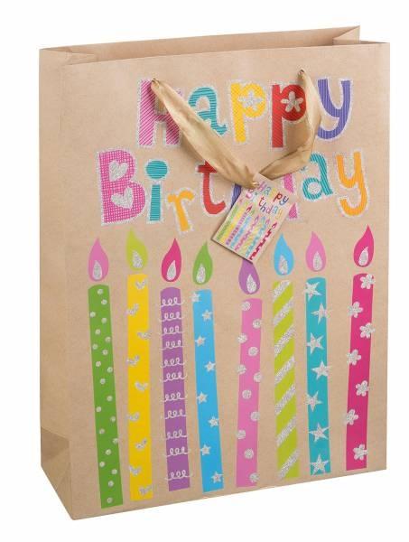 Geschenktasche Happy Birthday 35 x 25 x 8 cm