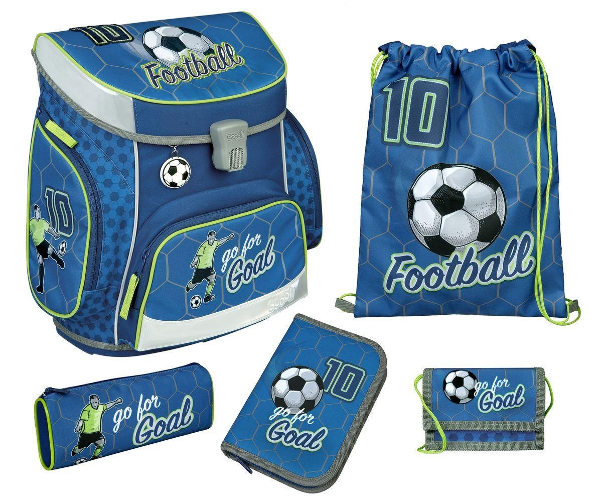 Scooli Campus Fit Pro Schulranzen-Set 6-tlg. Football