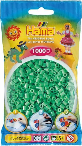 Hama Bügelperlen 1000 Stück hellgrün