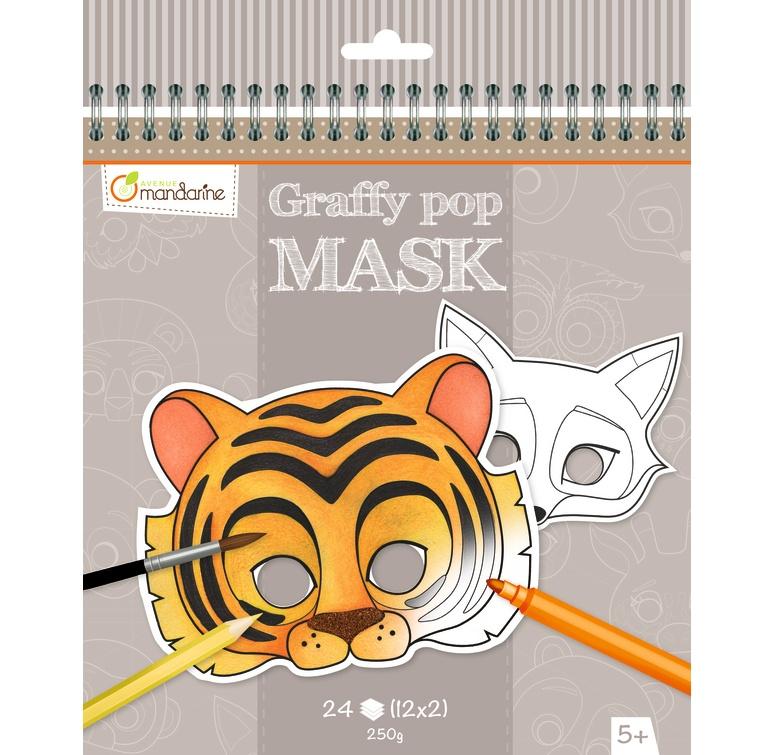 Avenue Mandarine Graffy Pop Maskenmalbuch Tiere