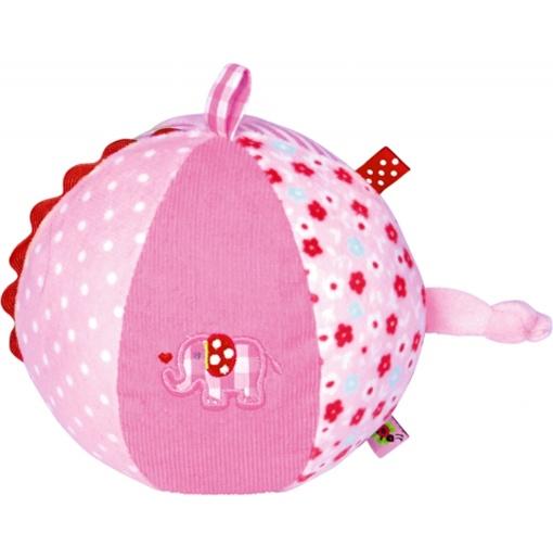 Spiegelburg BabyGlück Stoffball mit Glockenspiel rosa