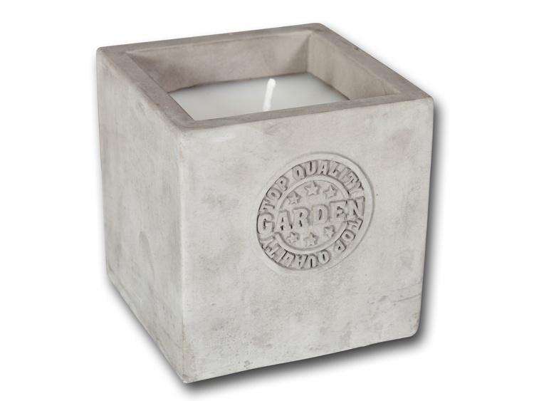 Kerzen in Keramik-Kerzentopf grau 10,2 cm