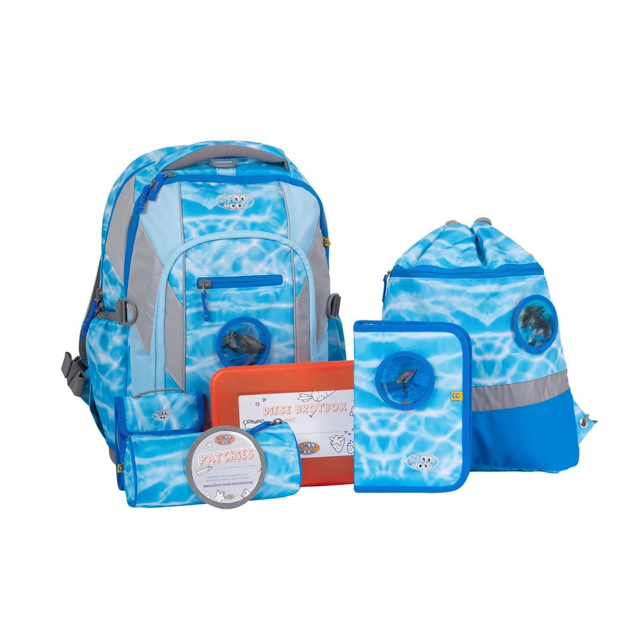 School-Mood Loop Schulranzen-Set eco air Lisa Delphin